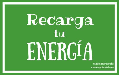 Recarga tu energía