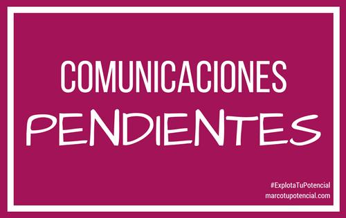 Comunicaciones pendientes