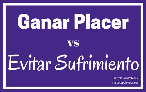 Ganar Placer vs Evitar Sufrimiento